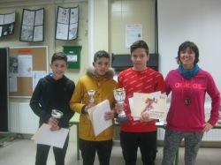 Flavio Petrut, Anass Hamouda y Diego Gamella con Sonsoles
